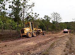 Caminos de Producción en Veraguas son atendidos con equipo pesado