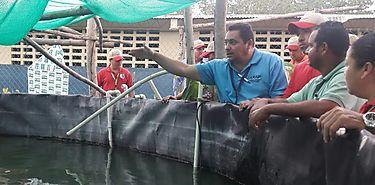 Capacitación en manejo de proyectos de Acuicultura