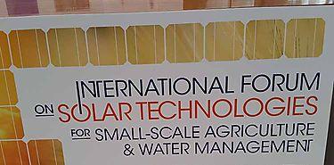 Acoge FAO foro sobre tecnologías solares en pequeña agricultura