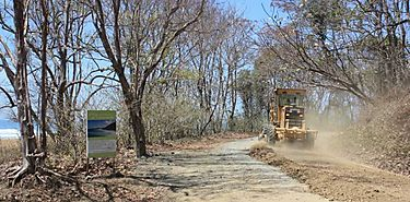 En temporada seca se incrementan trabajos en caminos de producción en Los Santos