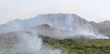 Incendio forestal en Cerro Guacamaya