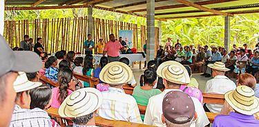 Gira de capacitación para beneficiarios de los programas en la Comunidad de Tucue