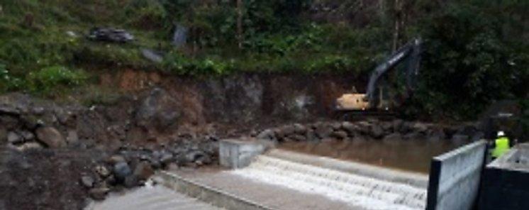 Obras del sistema de riego de Alto Bambito registran gran avance