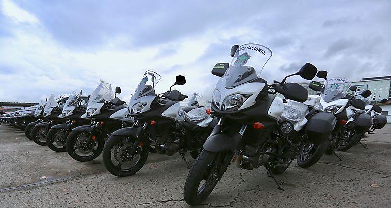 Policía Nacional recibe 251 nuevos equipos rodantes